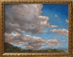 Oils on canvas, Clouds over Marbella. 30 x 37 cm (12 x 15 inches)