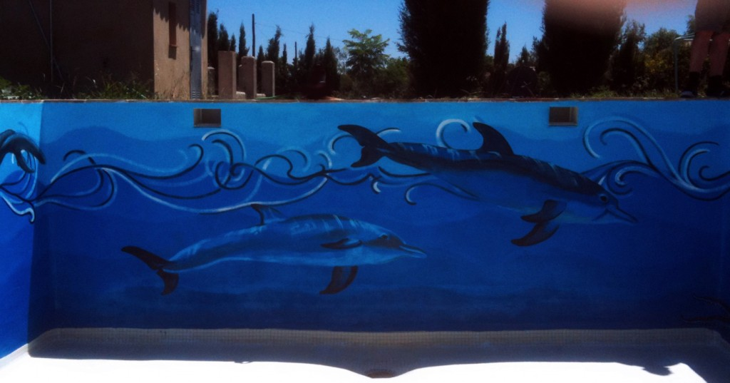 north wall, dolphins