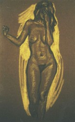 Conte crayons on pastel paper. Nude-3.  65 x 50 cm (26 x 20 in)