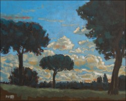 Landscape, oil on panel. Clouds over Arcos VI 25 x 20 cm (10 x 8 inches)