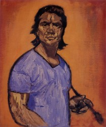 Victor Herman, self portrait age 46. Oils on canvas