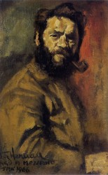 Victor Herman, self portrait age 37. Oils on canvas