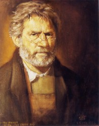 Victor Herman, self portrait age 57. Oils on canvas