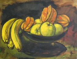 Still life with Star fruit. Oil on panel, Florida. 40 x 60 cm