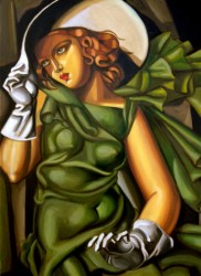 Girl with gloves 1929 110 x 80 cm