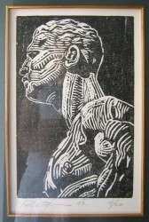 Wood-block print, 1/20.  24 x 15.5 cm